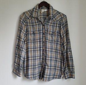 Billabong Plaid Flannel Shirt Size M